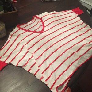 CAbi striped lightweight sweater size M